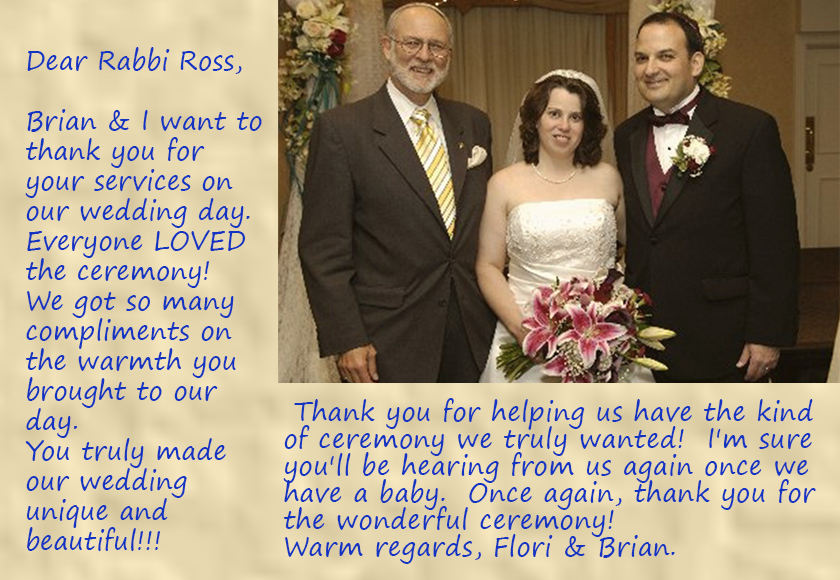 Rabbi Roger with Flori and Brian