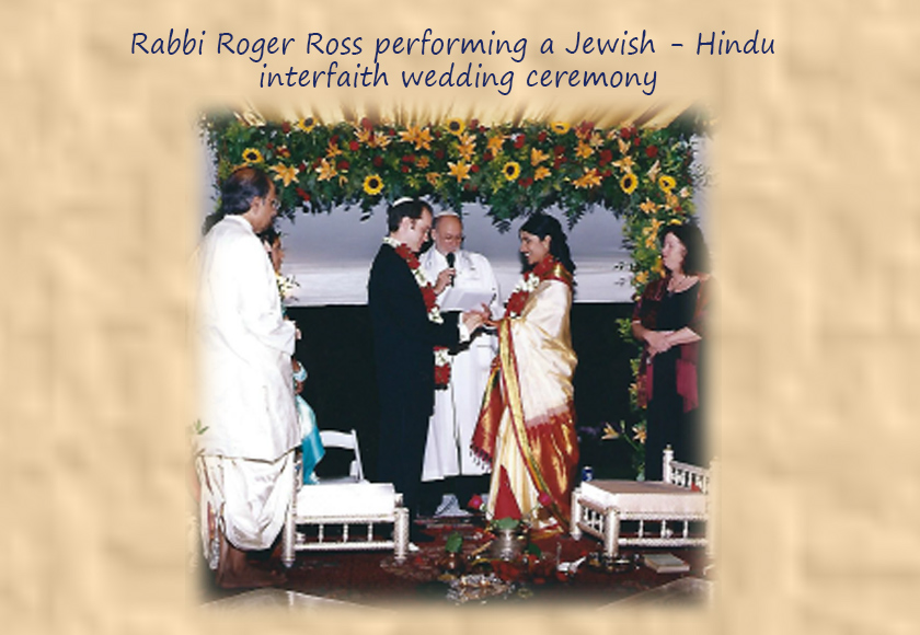 Rabbi Roger Doing a Jewish Hindu interfaith wedding