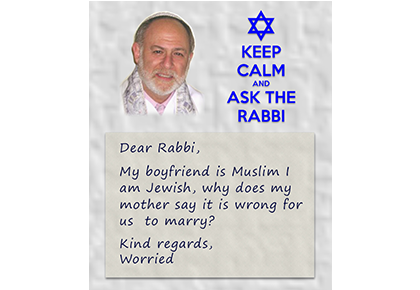 Keep calm and ask the Rabbi